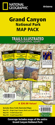 Buy map Grand Canyon, Map Pack Bundle by National Geographic Maps