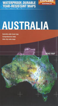 Buy map Australia by Explore Australia