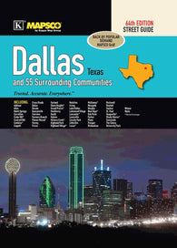 Buy map Dallas, Texas, Atlas, with 55 Surrounding Communities by Kappa Map Group