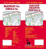Buy map Gallup and Grants, New Mexico plus Fort Defiance and Window Rock, Arizona by GM Johnson