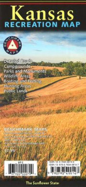 Buy map Kansas Recreation Map by Benchmark Maps