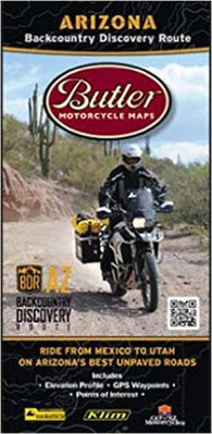 Buy map Arizona Backcountry Discovery Route by Butler Motorcycle Maps