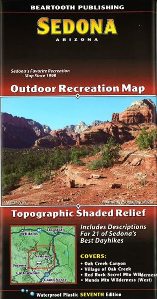 Buy map Sedona, Arizona by Beartooth Publishing