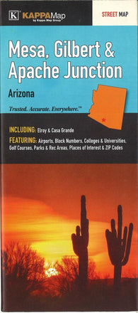 Buy map Mesa, Gilbert, and Apache Junction, Arizona by Kappa Map Group