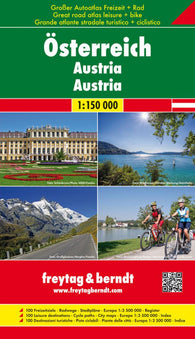 Buy map Austria: Road, Cycling, and Leisure Atlas by Freytag-Berndt und Artaria