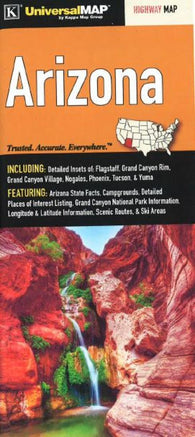 Buy map Arizona State Fold Map by Kappa Map Group