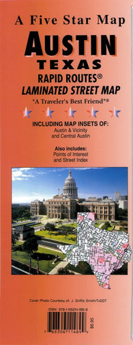 Buy map Austin, Texas Rapid Routes by Five Star Maps, Inc.