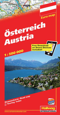 Buy map Austria with Distoguide by Hallwag