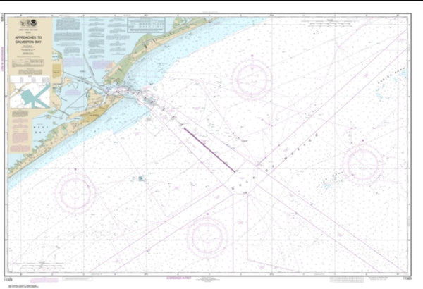 Buy map Approaches to Galveston Bay (11323-65) by NOAA