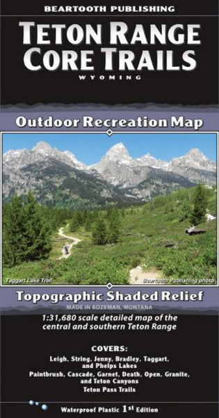 Buy map Teton Range Core Trails by Beartooth Publishing