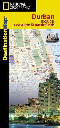 Buy map Durban, South Africa, Including Coastline and Battlefields, DestinationMap by National Geographic Maps