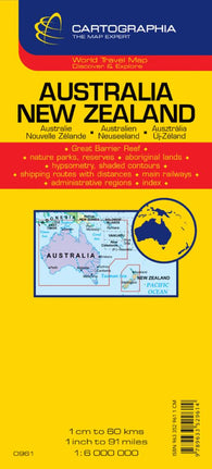 Buy map Australia and New Zealand by Cartographia