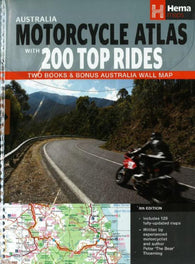Buy map Australia, Motorcycle Atlas Pack (2 books + 1 wall map) by Hema Maps