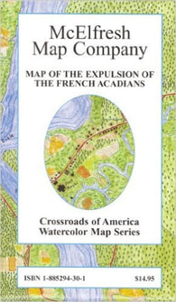 Buy map Expulsion of the French Acadians by McElfresh Map Co.