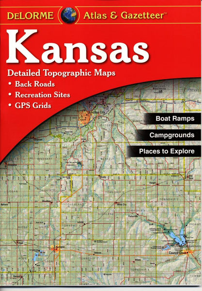 Buy map Kansas, Atlas and Gazetteer by DeLorme