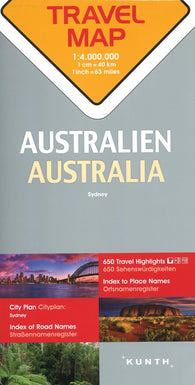 Buy map Australia Travel Map by Kunth Verlag