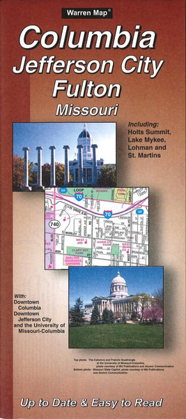 Buy map Columbia, Jefferson City and Fulton, Missouri by The Seeger Map Company Inc.