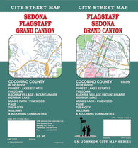 Buy map Flagstaff, Sedona and Grand Canyon, Arizona by GM Johnson