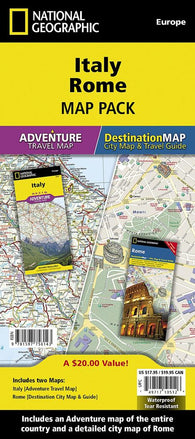 Buy map Italy, Rome Map Pack Bundle by National Geographic Maps