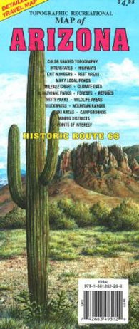 Buy map Arizona, Topographic Recreational Map by GTR Mapping