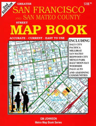 Buy map Greater San Francisco & San Mateo County, CA Street Map Book by GM Johnson