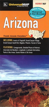 Buy map Arizona State Waterproof Map by Kappa Map Group