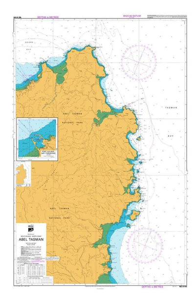 Buy map ABEL TASMAN (6144) by Land Information New Zealand (LINZ)