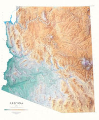 Buy map Arizona, Physical Wall Map by Raven Maps