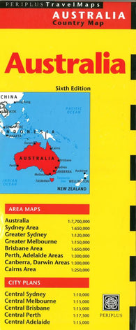 Buy map Australia Country Map by Periplus Editions