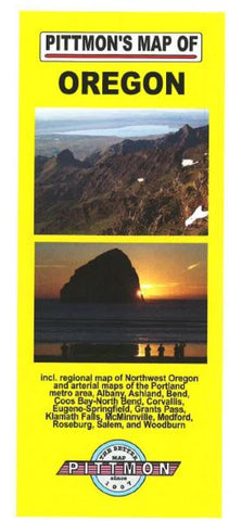 Buy map Oregon by Pittmon Map Company