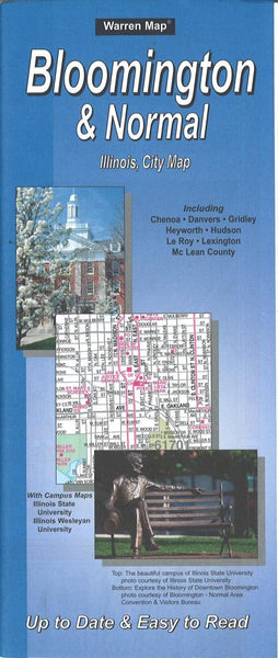 Buy map Bloomington and Normal, Illinois by The Seeger Map Company Inc.