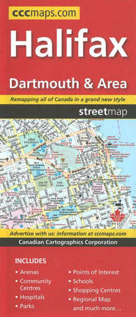 Buy map Halifax, Dartmouth and Area Street Map by Canadian Cartographics Corporation