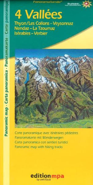 Buy map 4 Valleys Hiking Map by Orell Fu?ssli Kartographie, Edition MPA by Orell Fussli