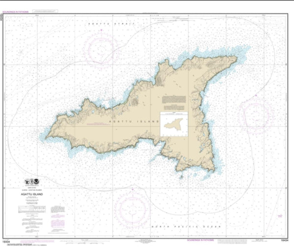 Buy map Agattu Island (16434-7) by NOAA