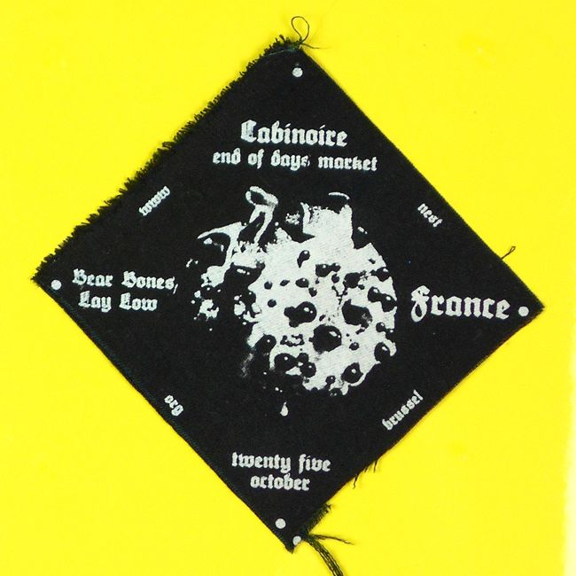 Silkscreened Patch for Cabinoire End of Days Market Event - (former) Nest bxl