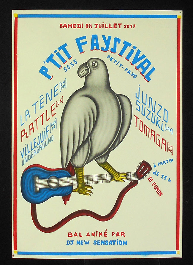 Ptit Faystival 2017 poster ............. Printed during open atelier by the people of Ptit Faystival