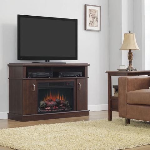 Dwell Infrared Electric Fireplace Media Console in Cherry - 26MM5516-PC72