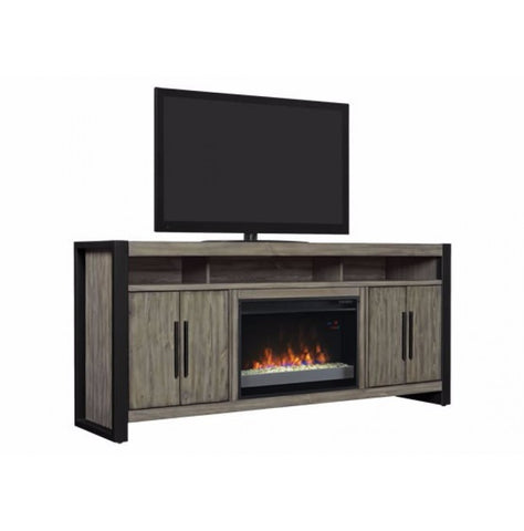 "Costa Mesa 59"" Electric Fireplace Media Console in Spanish Grey - 26MMA6031-I614"