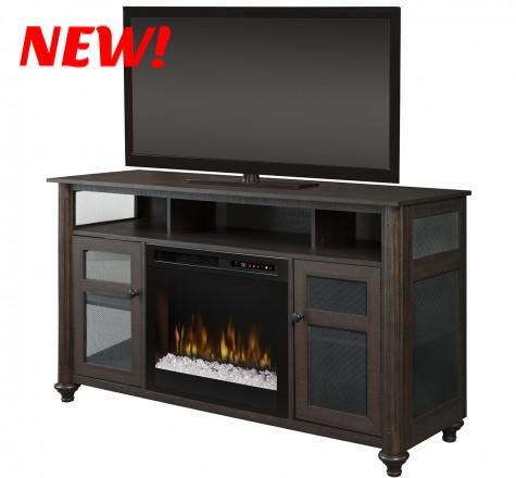 Dimplex Xavier Electric Fireplace Media Console in Brown Acrylic Ice  GDS23G8-1904GB