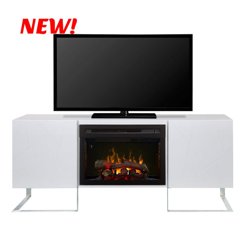 Dimplex Chase Electric Fireplace Media Console in Gloss White GDS25LD-1962GW