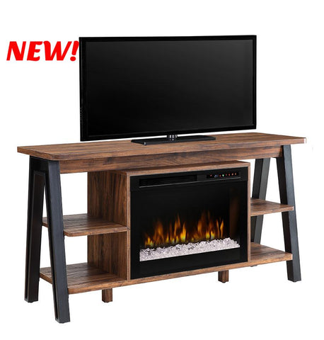 Dimplex Fiona Electric Fireplace Media Console in Tan Walnut