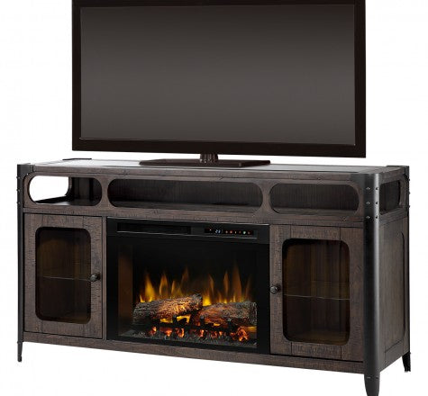 Dimplex Paige Electric Fireplace Media Console in Brown GDS26L8-1858NB