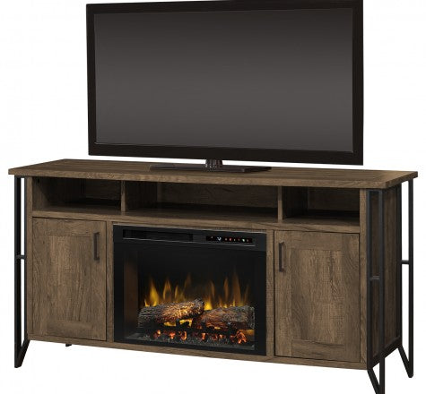 Dimplex Tyson Electric Fireplace Media Console in Chestnust Finish GDS25LD-1873FM