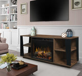 Dimplex Arlo Realogs(XHD) Electric Fireplace Media Console in Tan Walnut