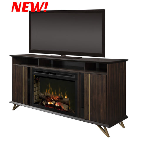 Dimplex Grace Electric Fireplace Media Mantel in Carob