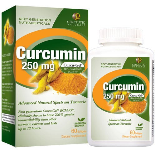Buy Genceutics, Natural Curcumin BCM-95 250 mg, 60 softgel at Herbal Bless Supplement Store