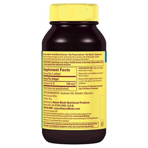 Buy Nature Made, CoQ10 100 mg Liquid Softgels - 40ct at Herbal Bless Supplement Store
