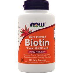 Buy Now Biotin (10mg) Extra Strength, 120 vcaps at Herbal Bless Supplement Store