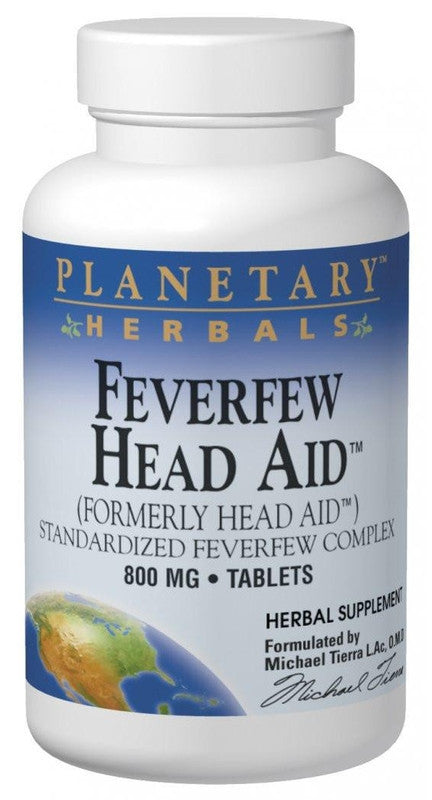 Buy PLANETARY HERBALS, Feverfew Head Aid™, 50 tablet at Herbal Bless Supplement Store
