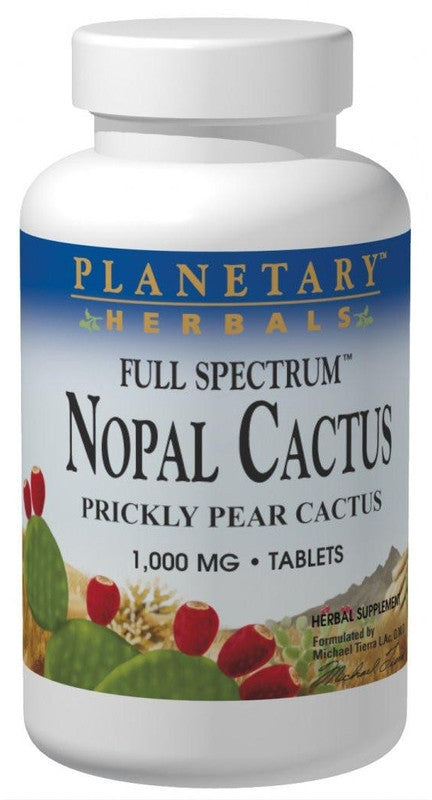 Buy PLANETARY HERBALS, Nopal Cactus Full Spectrum™ 1000mg, 60 tablet at Herbal Bless Supplement Store